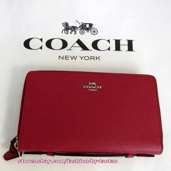 d01aa806f8 Coach Men s Double Zip Travel Organizer Leather